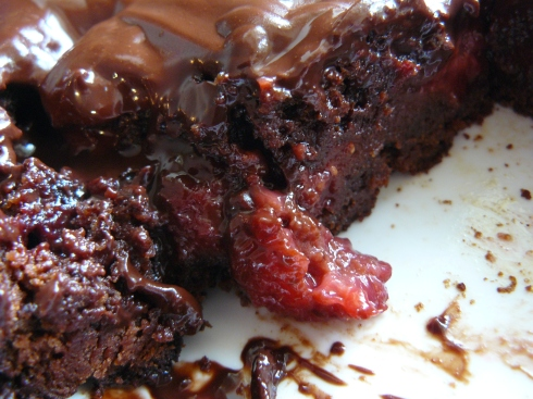 Chocolate and Raspberry Brownies: gooey, but worth it!